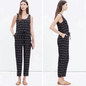 Madewell black print Pants & Jumpsuits